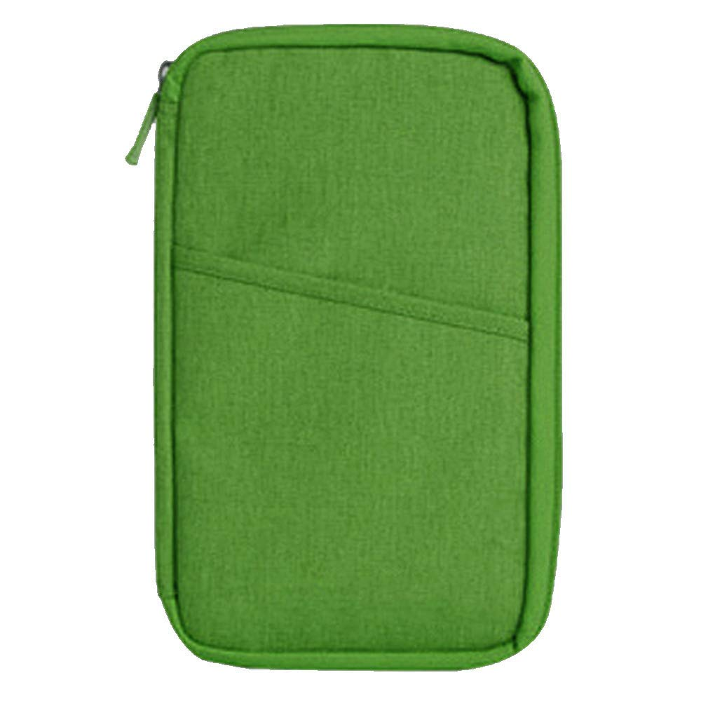 Loriver Travel Wallet Organizer Passport Credit Card Holder Cash Purse Case Bag Handbag, Green