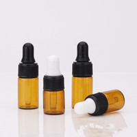 1ml 2ml 3ml 5ml mini Amber Glass Essential Oil Bottle Orifice Reducer and cap wholesale