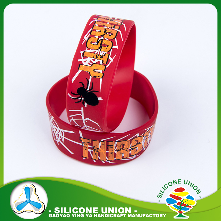 Colourful silicone sweatbands wristbands