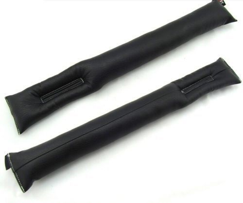 2pcs Black Truck Car Seat Gap Filler Soft Smooth Pad Drop Stop Holster Blocker Free Shipping