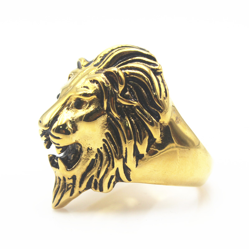 silver head product signet men ring lion brand rings metallic for jewelry in asos lyst