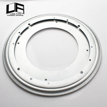 White Zine Low Noise 9quot Lazy Susan Rotating Swivel Plate