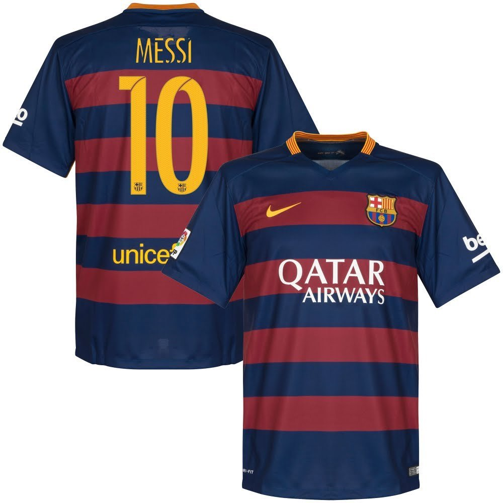 14b4ca1ce64 Buy Barcelona Home Messi Jersey 2015   2016 (Official Printing) in ...