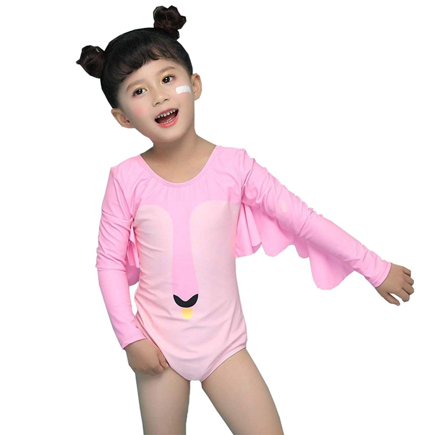d51366e0ca8fd Get Quotations · O.G.KID Baby Swimsuits Swimwear for Girls Long Sleeve One  Piece Swimming Suits 2-8