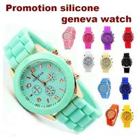 2017 new products cheap price silicone geneva low MOQ wrist watch
