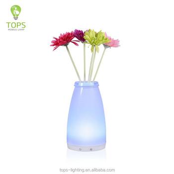 Bussiness Gift Flower Vase Shape Rgb Smart Flower Wireless Bluetooth