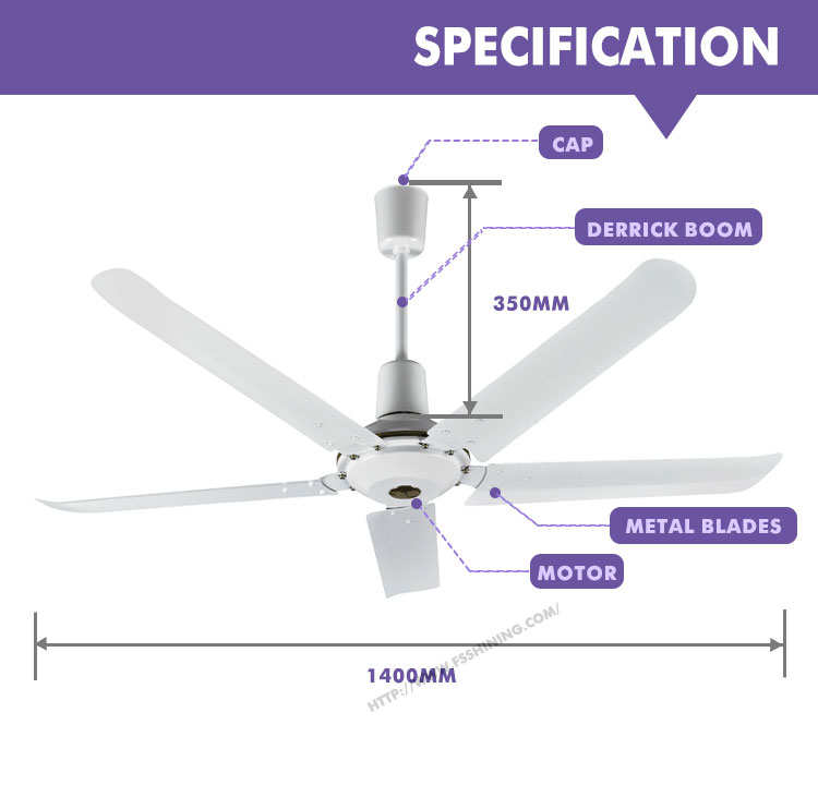 New electric motor professional outside big ceiling fan