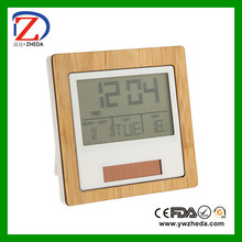 digital clock with wood thermometer hygrometer