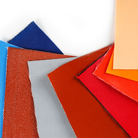 colored fireproof waterproof fabric silicone coated fiberglass cloth