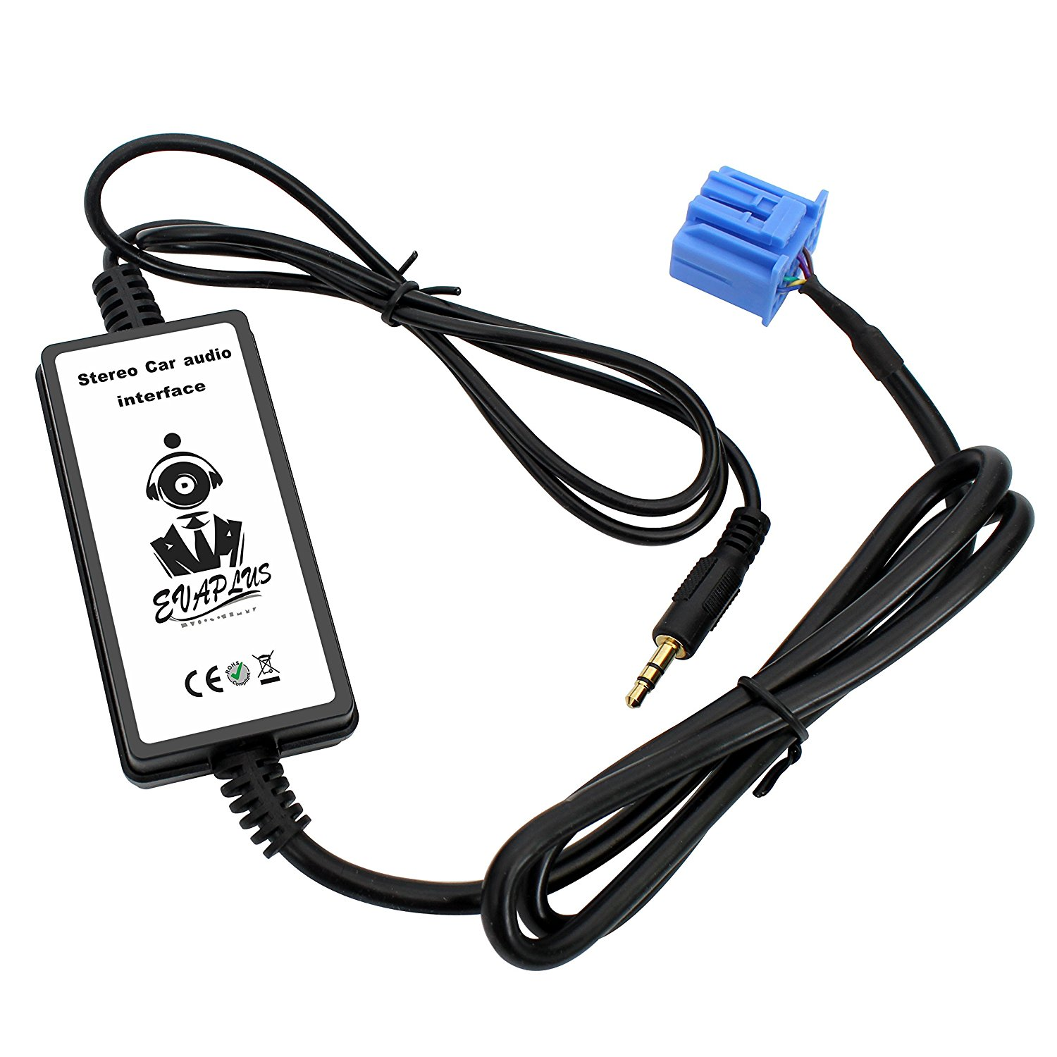 Get Quotations · EVAPLUS Car Auto Audio MP3 Player AUX Input Adapter Cable  3.5mm adapter connector for Honda
