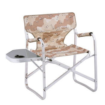 Outdoor Aluminium Camping Folding Director Chair With Side Table Ow N65