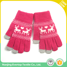 Custom new function cheap promotion women winter hand thick knitted gloves