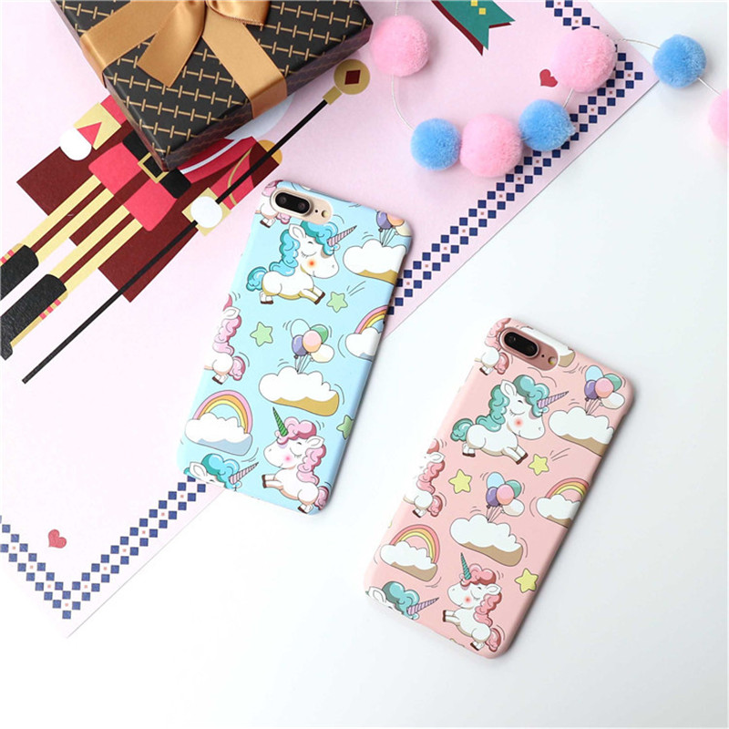 Wholesale Hot Selling Fashion Cute Cartoon Unicorn Plastic Mobile Cell Phone Case