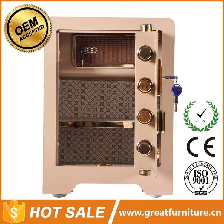 Good Sale Modern Design Metal Safe Deposit Box Discount Fancy Supplies Office Cash Safes