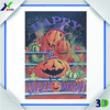 the Halloween pumpkin lamp design 3d lenticular poster/picture/card