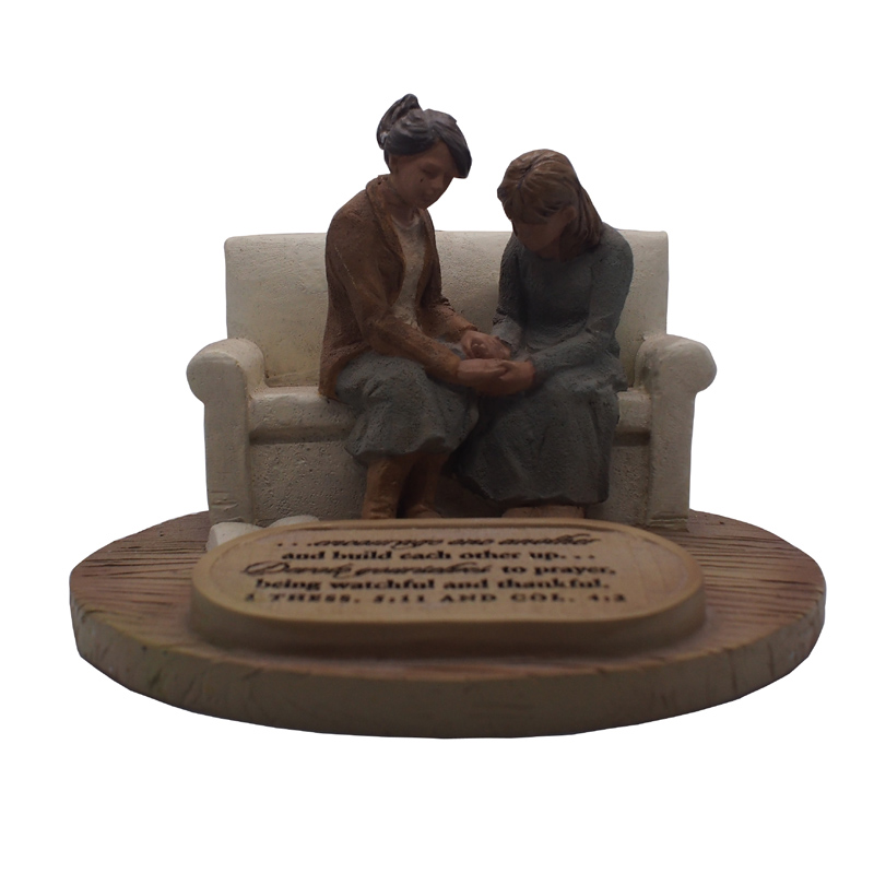 Mother and Daughter Statue Mother Child Figurine Sculpture Birthday Gift