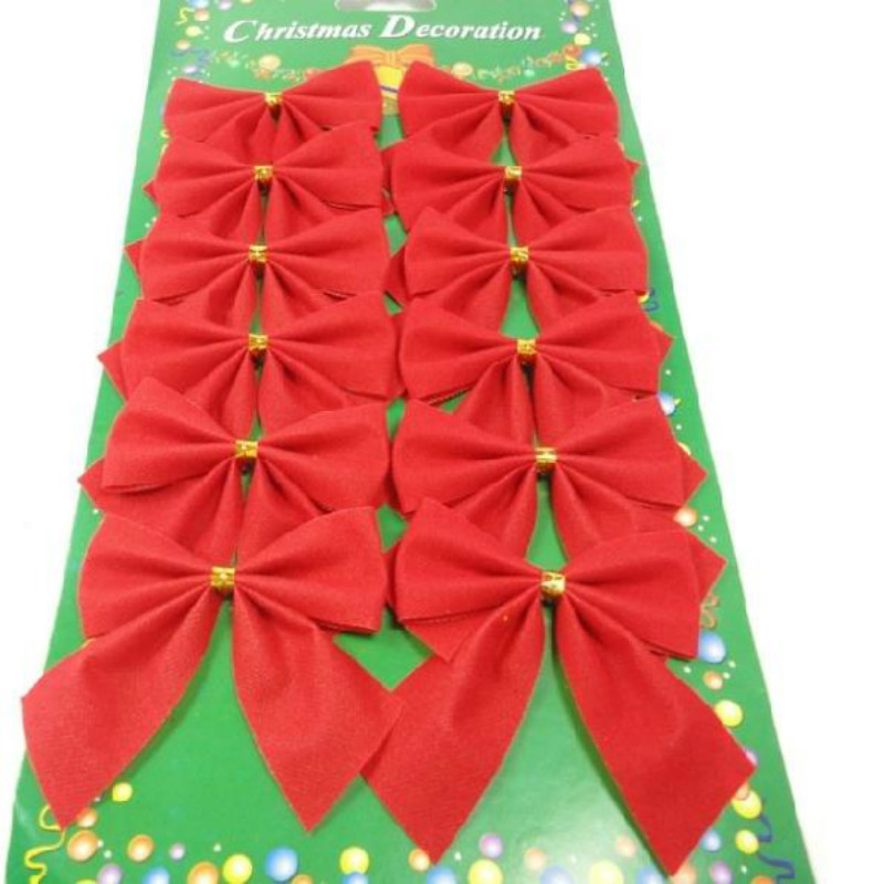 Christmas Tree Bows Decorations: Red Bows Christmas Tree Bow Decoration For Festival