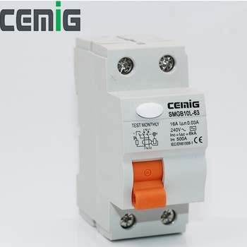 CEMIG 2019 New SMG10L-63 2P RCCB Residual Current Circuit Breaker RCD Electromagnetic Type Device 16A-63A 30mA 100mA 300mA 500mA