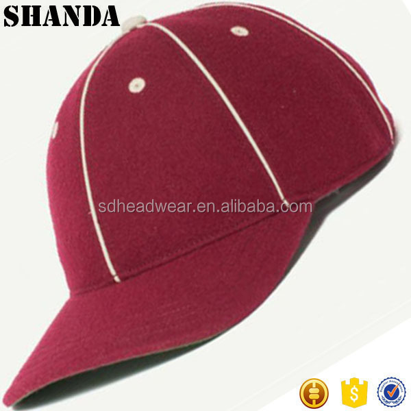 blank green under brim red woolen leather strap metal buckle custom fitted  brimless baseball cap b83773d80a9