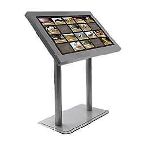 "Peerless-AV peerCare Antimicrobial Indoor Digital Signage Kiosk Enclosure for 46"" Ultra-Thin Displays (White, Landscape)"