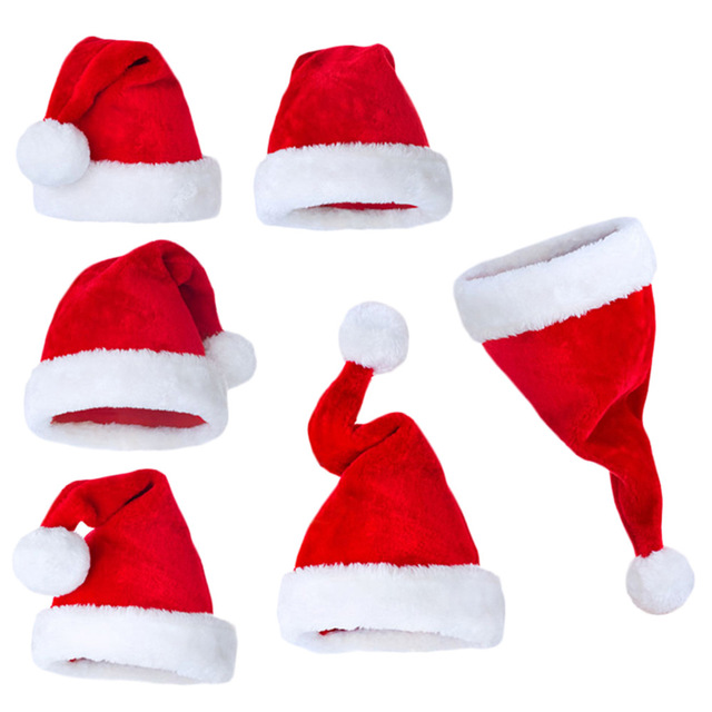 New years Christmas Party Christmas Hat For Santa Claus Costume XMas Decoration