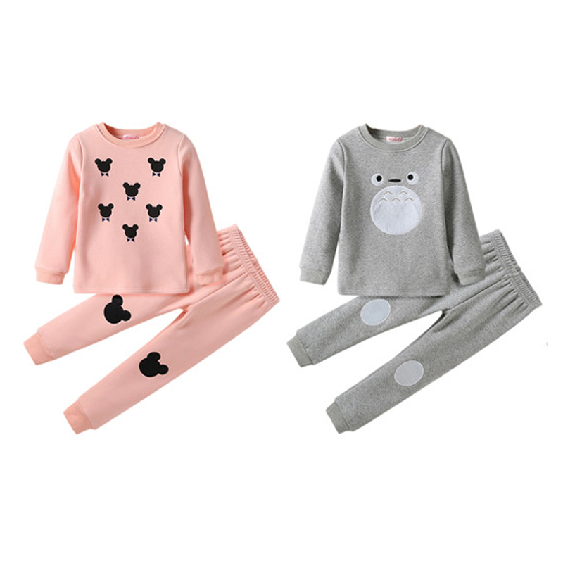 Lovely casual cartoon sleepwear girl children clothes girl's suit