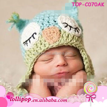 3b69652473e91 2017 New Designer Baby Owl Crocheted Pattern Hat - Newborn Double Layer  Multifunctional Cute Thick Earflap