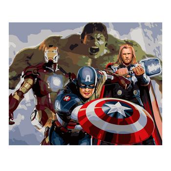 Avengers Ittifak Marvel Cizgi Film Karakterleri Kaptan Amerika Diy