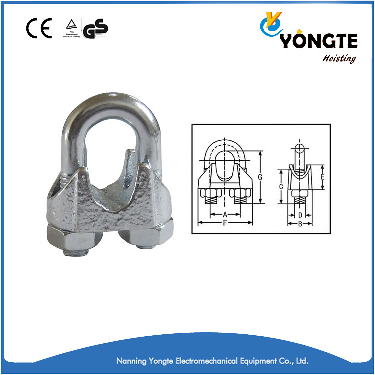 DIN 741 good quality galvanized malleable wire rope clip