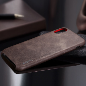 [X-Level] Original Design high quality design for iphone x case pu leather brown cover logo