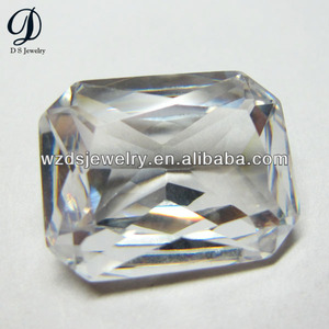 Synthetic White Gemstones CZ For Jewelry Cubic Zirconia In Stock