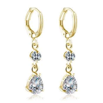 Korean Style Hanging Diamond Drop Earrings Design For S