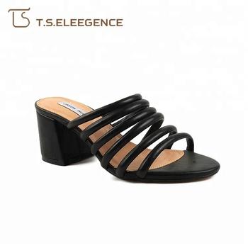 e615c1b132d Ladies Comfort Shoes Low Block Heel Slippers Sandals Women - Buy ...