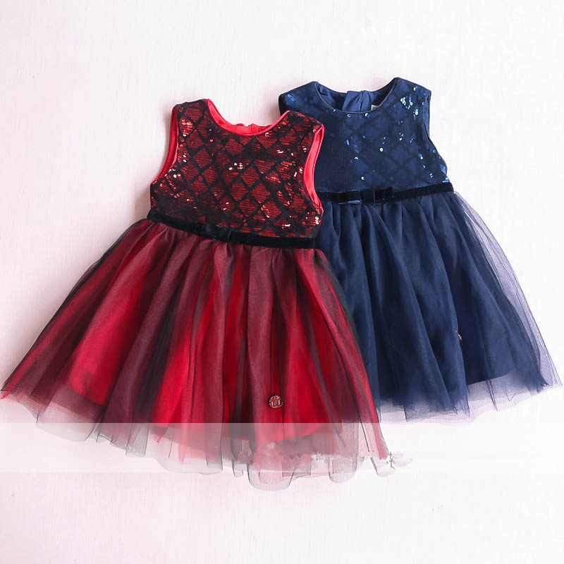 sparkle sequins little girls dresses winter