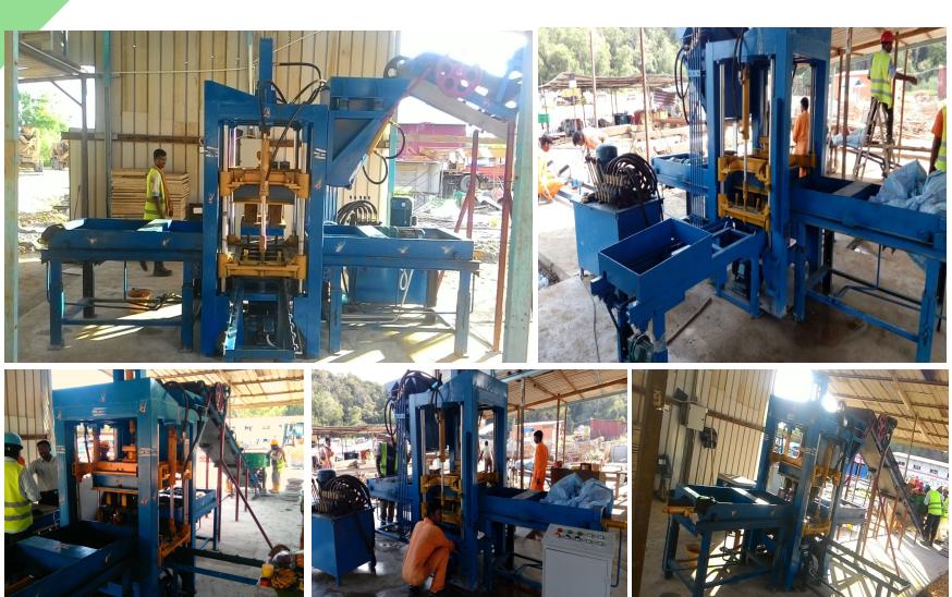 PLC Automatic Hydraulic Interlocking Paving Block Making Machine/Cement Concrete Hollow Brick Moulding Machine