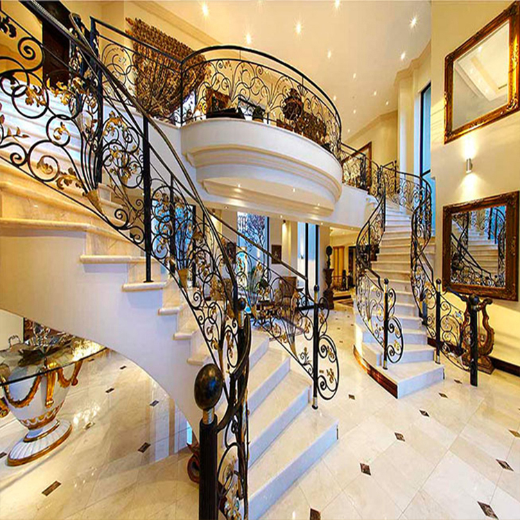 outdoor morden wrought iron stair railing panels design in ...