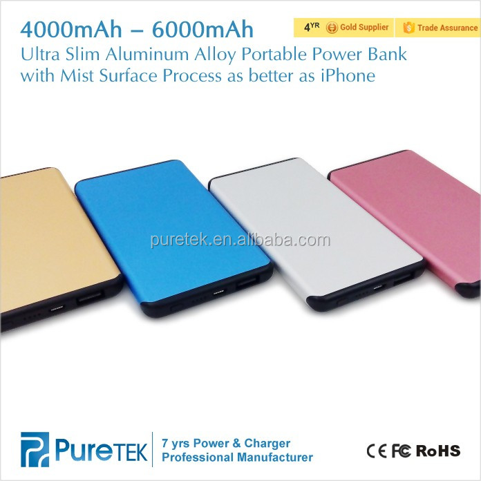 6000mAh Ultrathin External Portable USB Charger Power Bank Battery for Mobile Phones