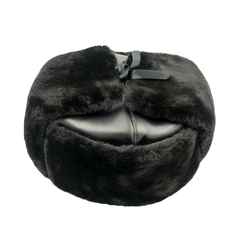 343cb6e3a92 Get Quotations · Brand Winter Bomber Hats Fur Hat Men Outdoor Russian Snow  Cap Fashion Leather Aviator Hats With