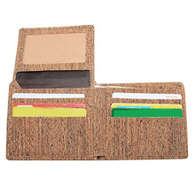 Eco Friendly Cork Wallet for men Slim Bifold Vegan Wallet Credit Card Holder,