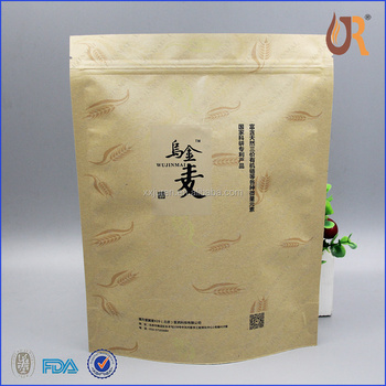 Potato Chips Paper Bag Tin Tie Scented Tea Bags With Clear Window