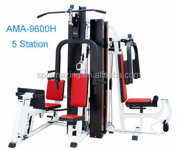 Multi Station 5 in 1 Home Gym Strength Equipment AMA 9600H