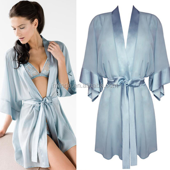 dfb0224e71 Fashion Sexy Womens Chinese Silk Robe OEM Service Silk Satin Front Open New  Robes For Night