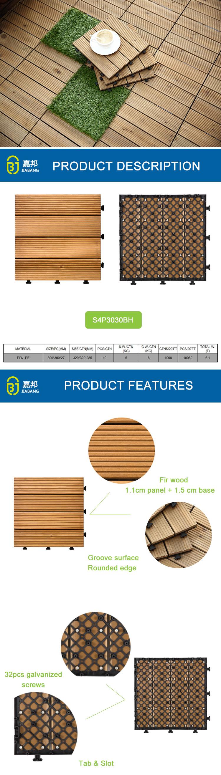 Fabrik Direktes Angebot Wasserablauf Balkon Und Halle Plank Holz Deck  Tongue Groove Fliesen Bodenbeläge Verriegelung Holzhaus