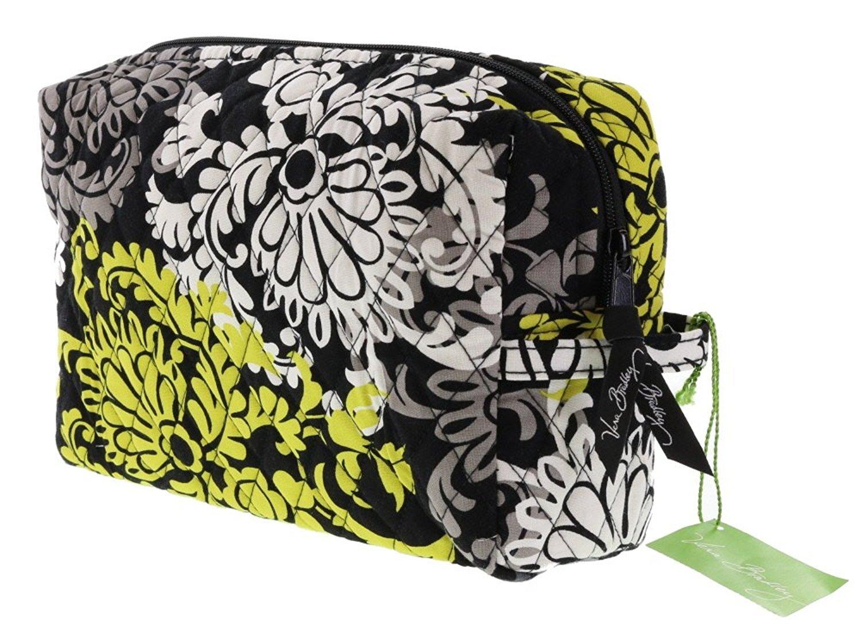 f22ed08729 Get Quotations · Vera Bradley Medium Cosmetic Bag in Baroque (with solid  black interior)