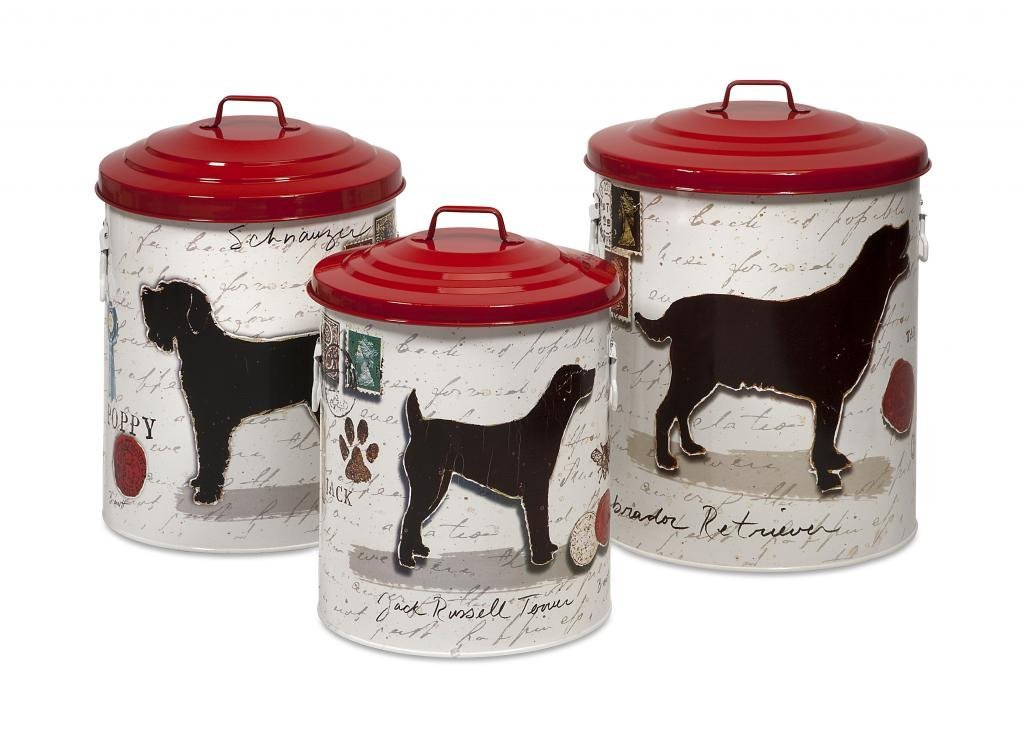 Get Quotations · Decoratively Lovely Dog Food Storage Canisters w/Dog Imagesu0026Red lids - Set of 3 Home  sc 1 st  Alibaba & Cheap Decorative Dog Food Storage Containers find Decorative Dog ...