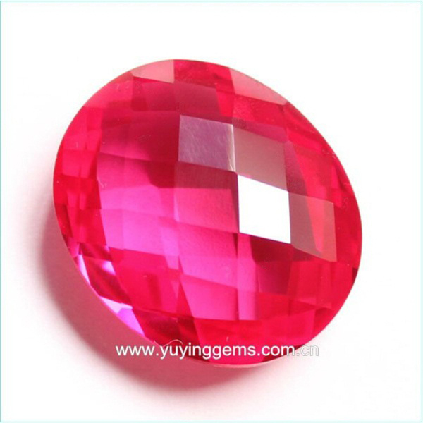 Aaa European Brilliant Oval Shape Double Facet Ruby For Jewelry ...