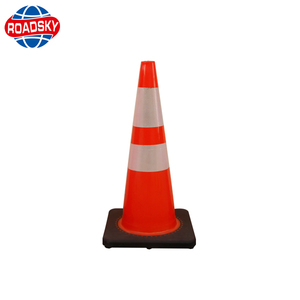 glow in the dark road safety pvc traffic cone sleeves