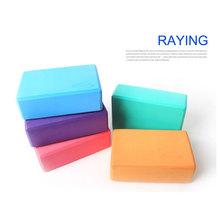 wholesale Raying 2016 Good Quality High Density Eva Rubber Logo Imprinted Easy Use Yoga Block Lightweight Foam Blocks