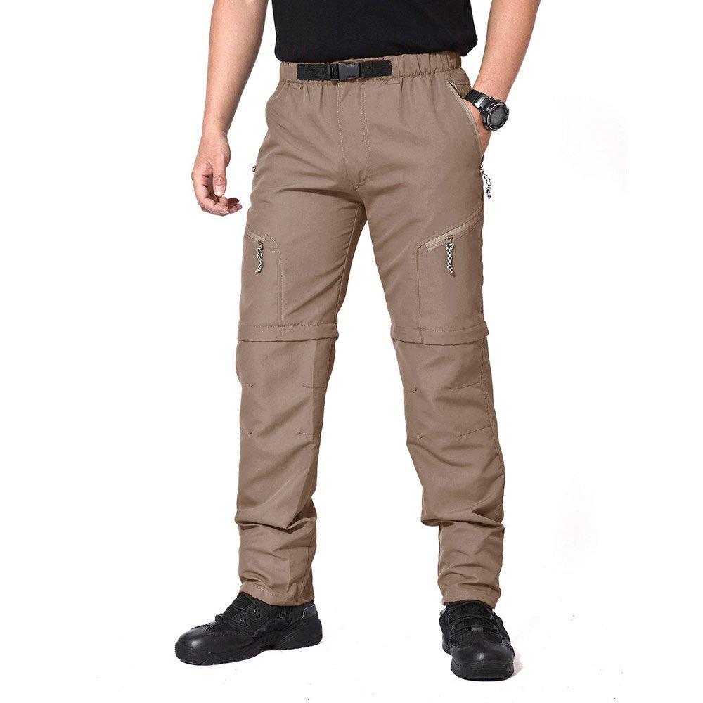818c558d1f485 Get Quotations · MAGCOMSEN Convertible Pants Zip off Hiking Men Stretch  Outdoor Hiking Pants