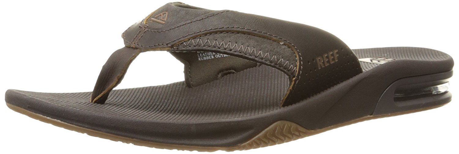 4c9f227bba7 Get Quotations · Reef Men s Leather Fanning Sandal